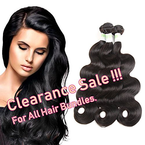 Brazilian Virgin Human Hair Body Wave 3 Bundles,300Grams Deal Unprocessed Hair Extensions Natural Color(10 12 14Inch)