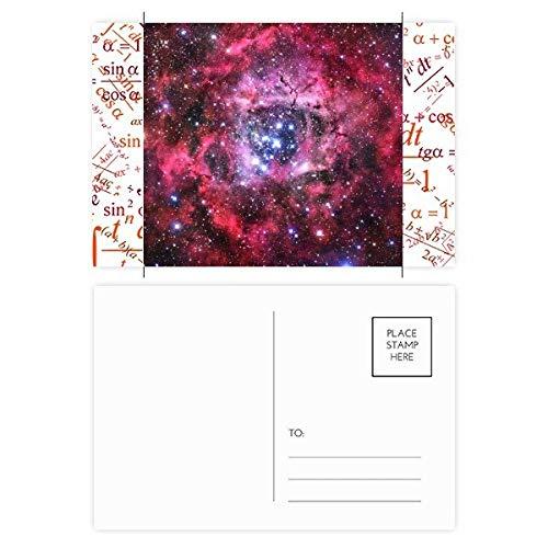 (Rose Red Monoceros Rosette Nebula Pattern Formula Postcard Set Thanks Card Mailing Side 20pcs)