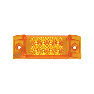 Grand General 77660 Amber Rectangular Spyder 8-LED Marker and Clearance Sealed Light: Automotive