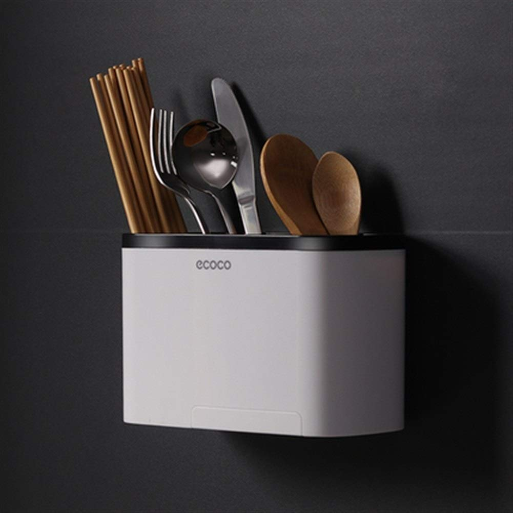 Tableware Spoon Storage Box Kitchen Tube Wall Hanging Chopsticks Cage Drain Rack (Color : Standard section)