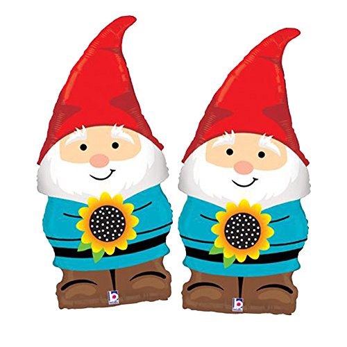 Set of 2 Adorable Lawn Gnome 34 Foil Party Balloons