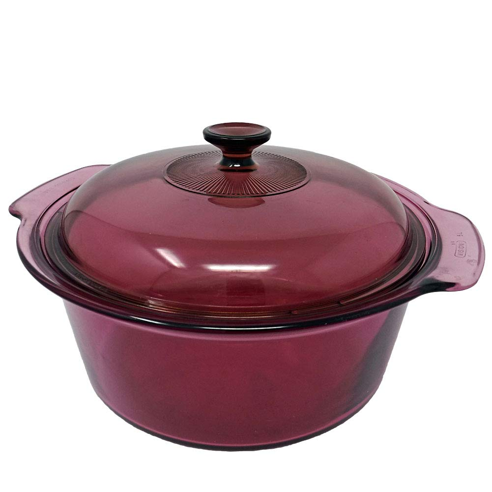Corning Vision Cranberry 5 L (Quarts) Dutch Oven with Lid