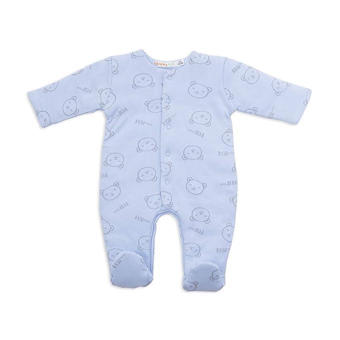 BABY-BOL - Pelele Acolchado BEBÉ bebé-niños Color: Celeste Talla: 1M
