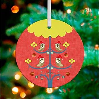 """Oopsy Daisy Keepsake Ornament, Holiday Owl Family, 3""""x 3"""""""
