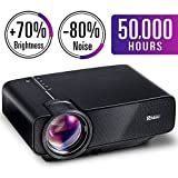 2018 Upgraded Mini Projector, RAGU Z400 Multimedia Home Theater Video Projector with +80% Lumens 50,000Hours Support HDMI VGA USB AV SD Connected with Laptop/iPad Smartphone Xbox for Movie Game Party