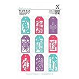 Xcut (Docrafts) A5 Die Set (10pcs) Paper Card Craft - Everyday Gift Tag Set by Xcut