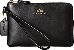 COACH Women's Box Program Corner Zip SV/Amaranth Clutch
