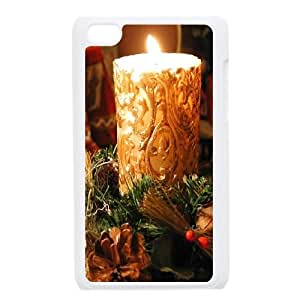 iPod Touch 4 Case White Christmas,Candle FY1397614