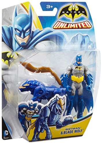 Batman Unlimited: Batman and Blade Wolf Action Figures