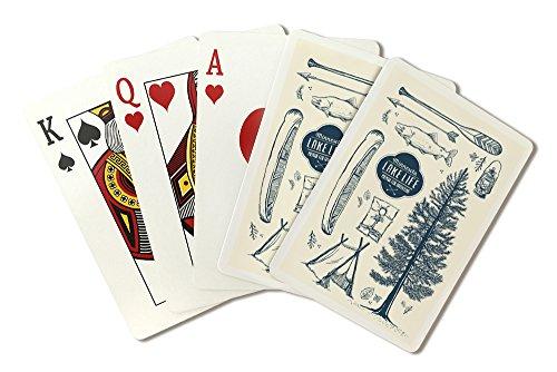 Minnesota - The Lake Life - Lake Collage (Playing Card Deck - 52 Card Poker Size with Jokers) by Lantern Press