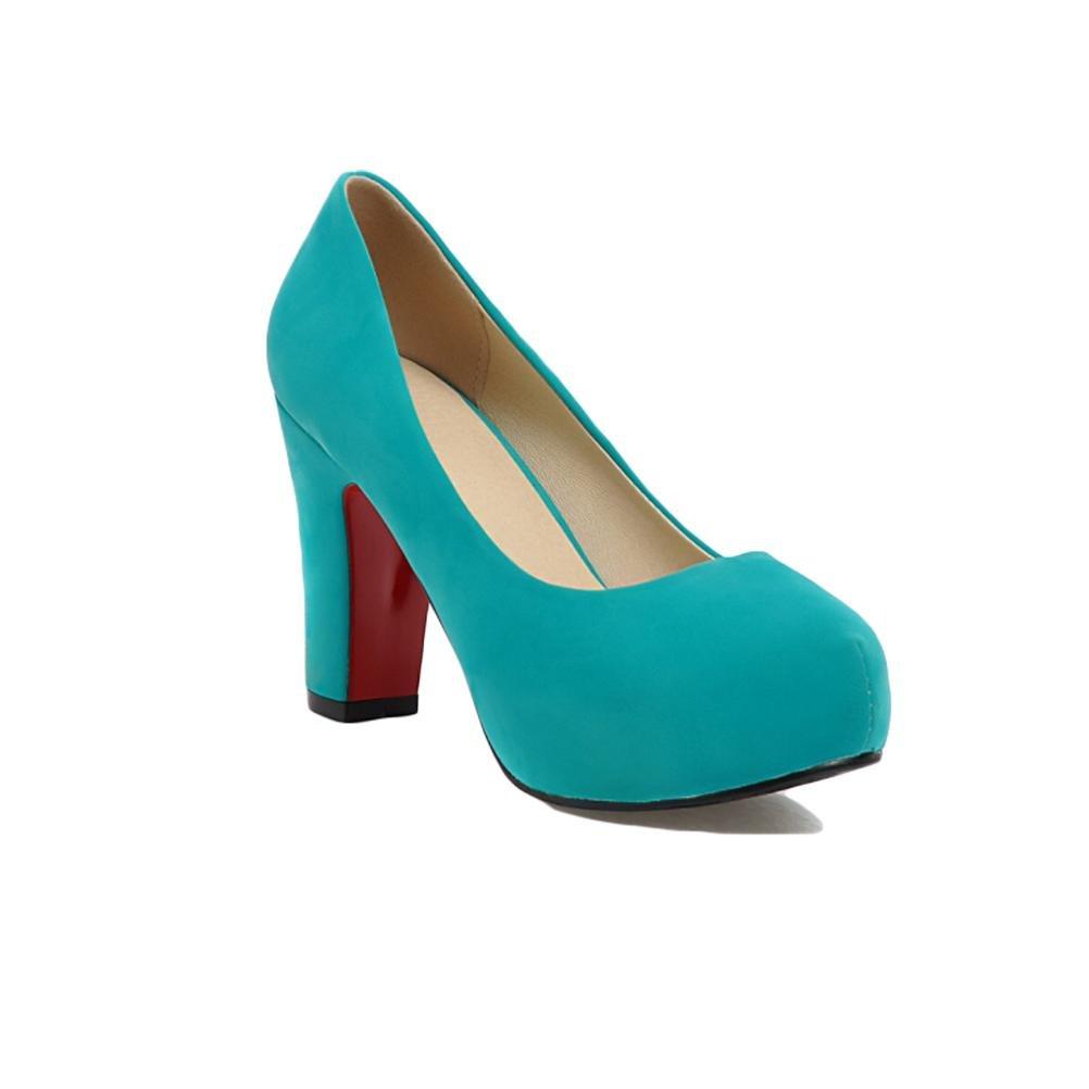 vert-39 HIGHXE Chaussures en Dentelle à Talons Hauts à Talons Hauts, Chaussures à Dents Rondes, antidérapantes