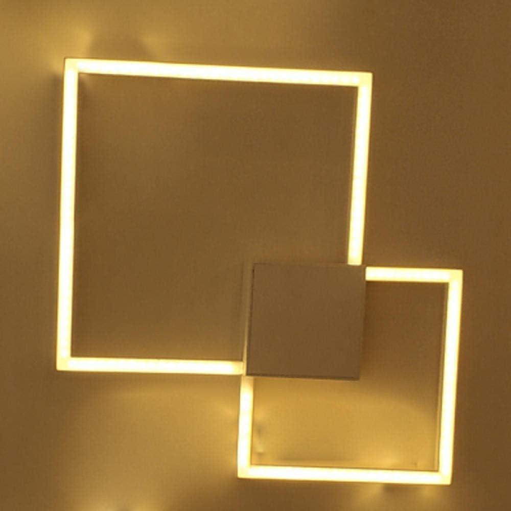 GYBYB Lámpara de pared de diseño geométrico hueco de pintura de metal blanco simple iluminación LED moderna escalera escalera de bricolaje combinación libre decoración cálida @ D_warmWhite: Amazon.es: Iluminación