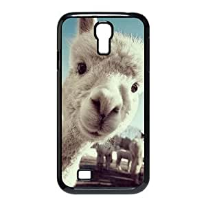 Diy Lama Pacos Phone Case for samsung galaxy s4 Black Shell Phone JFLIFE(TM) [Pattern-1] by mcsharks