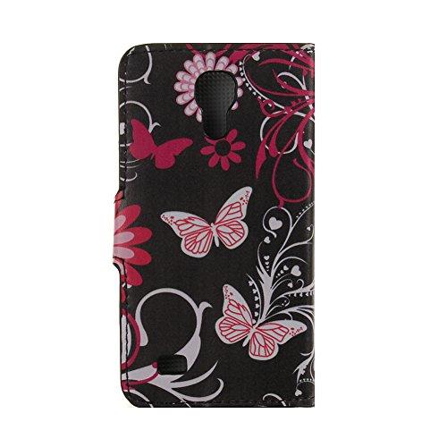 Case for S4 Mini,Wallet case for I9190 UZZO™Flip Case for Samsung Galaxy S4 Mini Fashion Printing Series Folio PU Leather Case Skin Shell Protective Smart Stand Case Wallet Case for Samsung Galaxy S4 Mini i9190 +1 PCS Free Keyring (H)