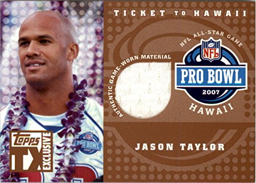 2007 Topps TX Exclusive Ticket to Hawaii Jersey #JT Jason Taylor Jersey /249 - NM-MT