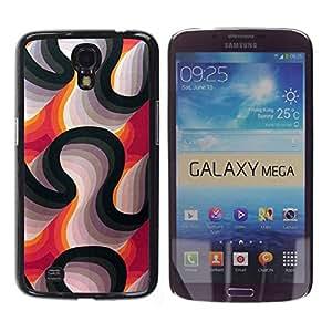 Paccase / SLIM PC / Aliminium Casa Carcasa Funda Case Cover para - Lines Purple White Black Abstract - Samsung Galaxy Mega 6.3 I9200 SGH-i527