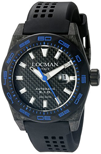 Locman Italy Men's 0216V3-CBCBNKBS2K Stealth 300 Metri Analog Display Automatic Self Wind Black Watch