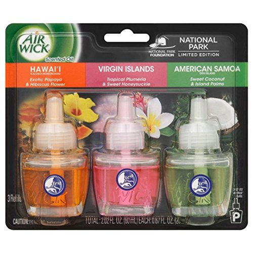 Air Wick Assorted National Park Scented Oil Refills 0.67 fl oz 3 ct by Air Wick
