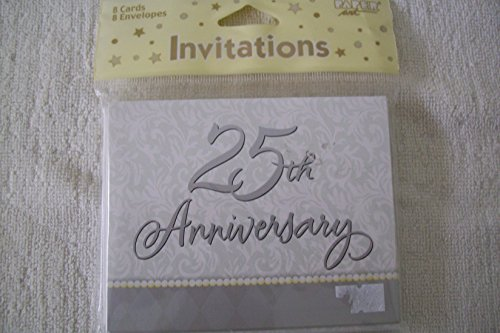 - 25th Anniversary Party Invitations (8 count)