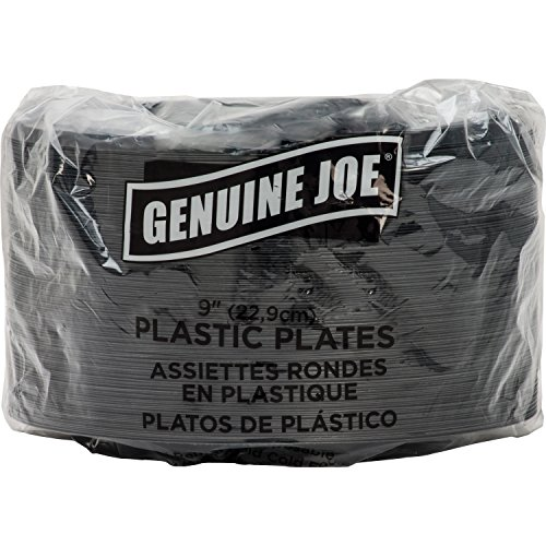 - Genuine Joe GJO10429 Plastic Round Plate, 9