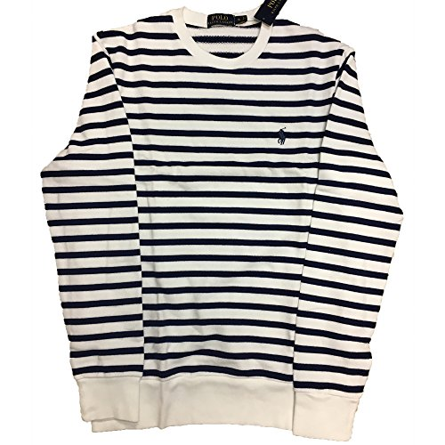 RALPH LAUREN Men's Striped Pullover Sweater - Sweater Cotton Striped