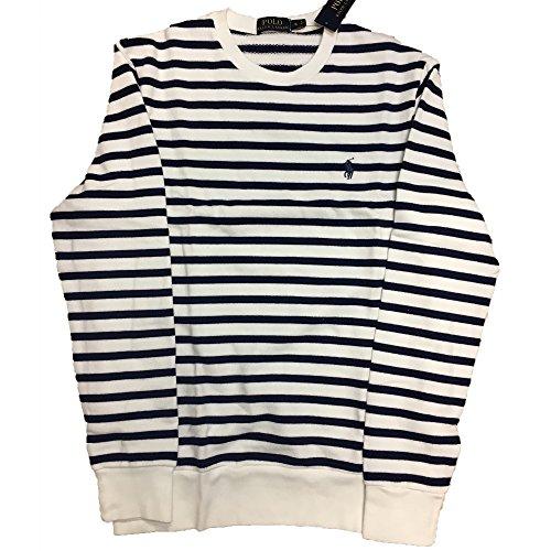 RALPH LAUREN Men's Striped Pullover Sweater - Striped Cotton Sweater