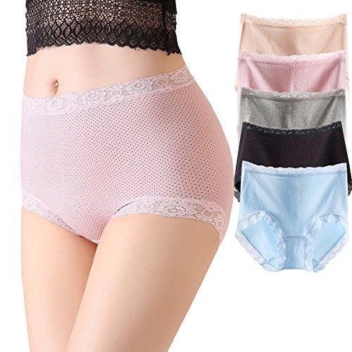 Eliber Womens Stretch Cotton Underwear High Waist Briefs Ladies Comfort Panties