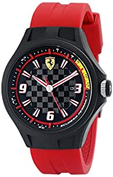 Ferrari Men\'s 0830002 Pit Crew Analog Display Quartz Red Watch