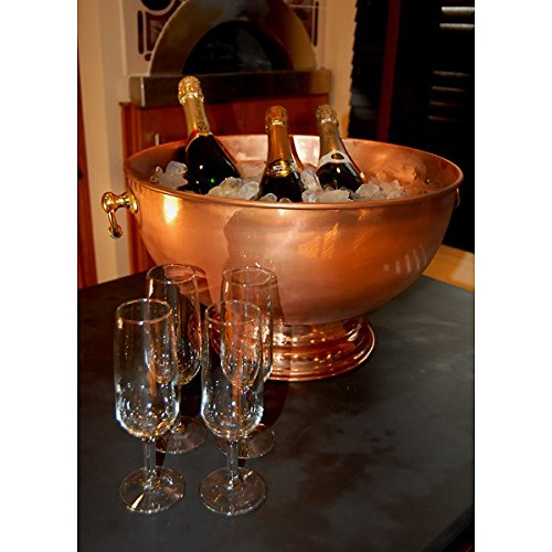 Copper Champagne and Wine Bottle Display Bowl