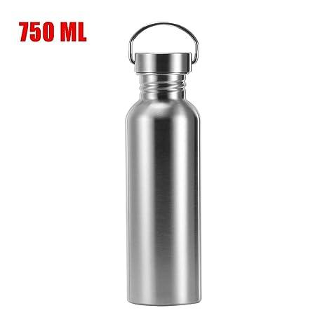 TiooDre Botella de agua, 750 ml botellas de agua aisladas al vacío de acero inoxidable sin BPA, botella de deportes fríos y calientes, termo para ...