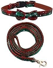 2- delige kerst halsband en riem set huisdier strikjes kraag met bijpassende riem Dierenbenodigdheden