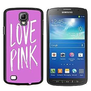 - Love Pink Heart - - Cubierta del caso de impacto con el patr??n Art Designs FOR S4 Active I9295 (Do Not Fit S4) Queen Pattern