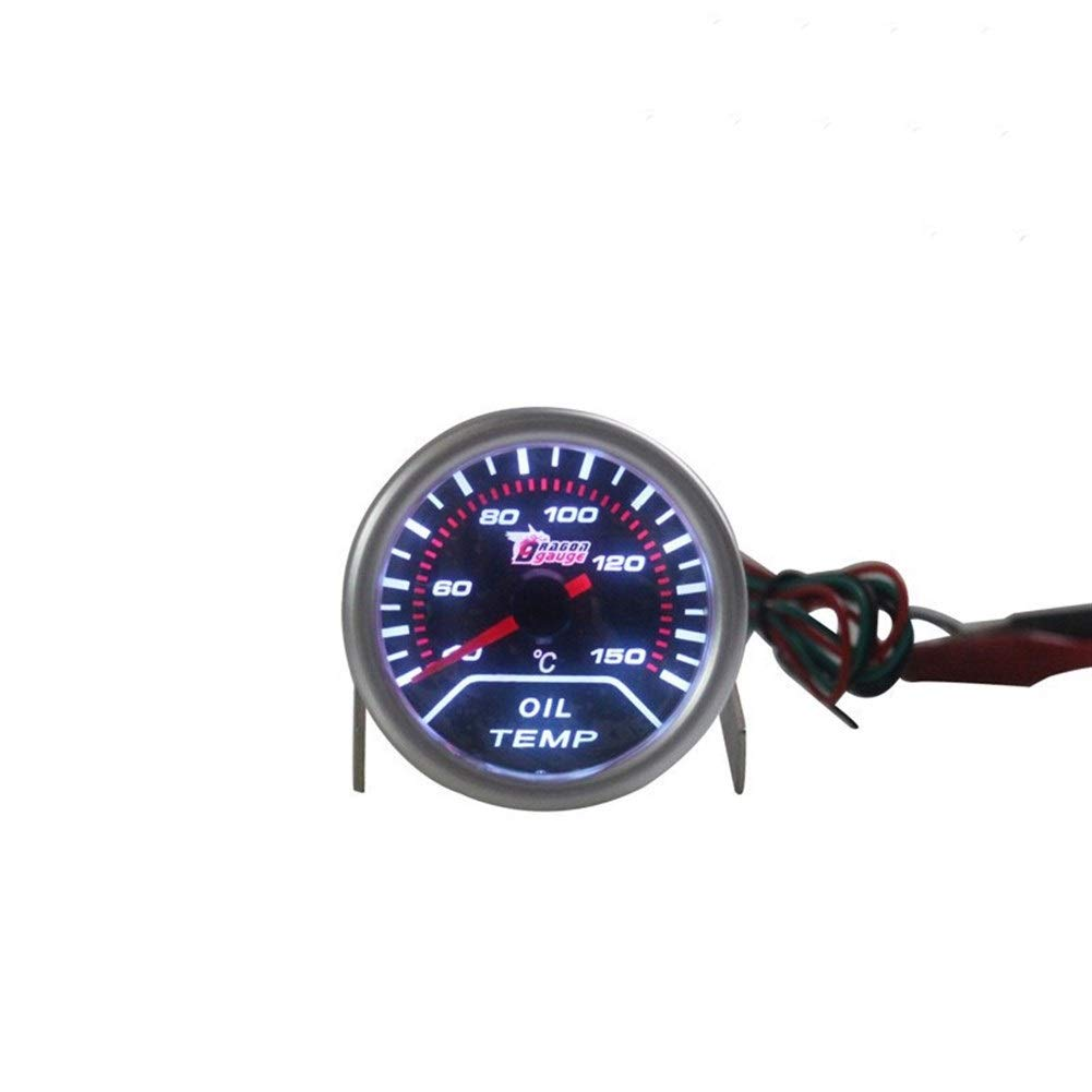 QinMei Zhou Car instrument car instrument modification oil temperature meter car oil temperature table racing modified oil temperature meter (Color : White) by QinMei Zhou