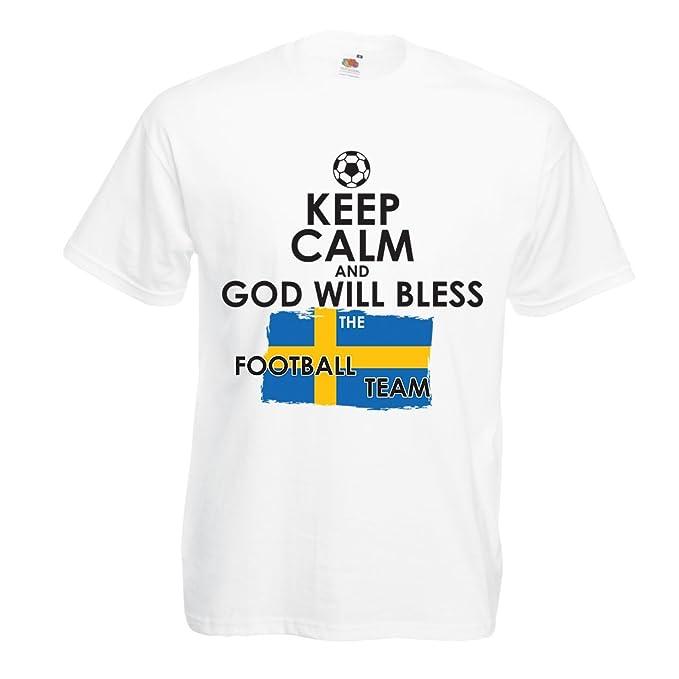 lepni.me Camisetas Hombre Copa Mundial 2018 Rusia, La Evolución del Fútbol - Equipo Nacional de Suecia: Amazon.es: Ropa y accesorios