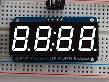"Green ADA1268 Adafruit 1.2/"" 4-Digit 7-Segment Display w//I2C Backpack"