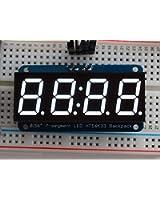 "Adafruit 0.56"" 4-Digit 7-Segment Display w/I2C Backpack - White [ADA1002]"