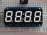 Adafruit 0.56'' 4-Digit 7-Segment Display w/I2C Backpack - White [ADA1002]