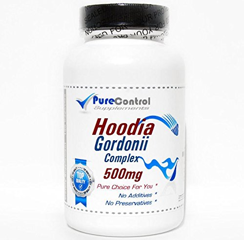 Hoodia Gordonii Complex 500mg // 180 Capsules // Pure // by PureControl (Hoodia Complex)