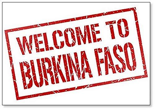 Welcome to Burkina Faso Stamp Illustration Fridge ()