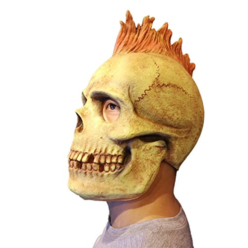 Halloween Cosplay,Gillberry New Deluxe Novelty Scary Costume Party Props Latex Pumpkin/Animal Head Mask (H)