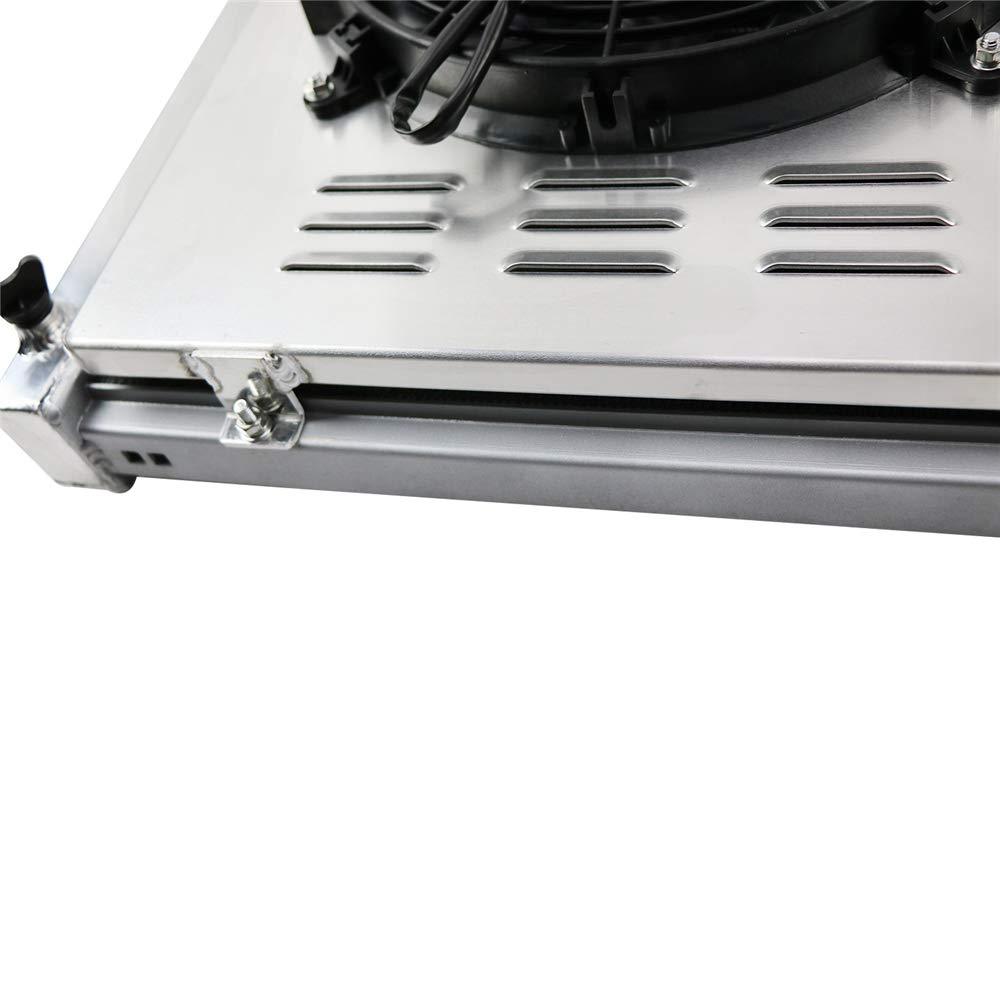 OzCoolingParts radiador de aluminio de 3 filas + 2 ventiladores de ...