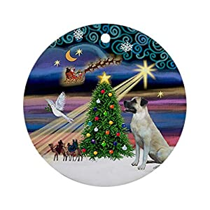 CafePress Xmasmagic Anatolian Shep Ornament (Round) Round Holiday Christmas Ornament 1