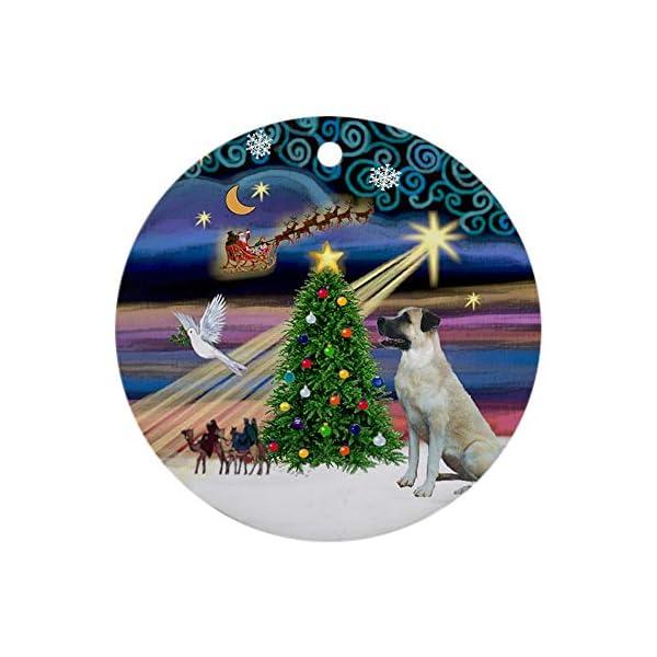 CafePress Xmasmagic Anatolian Shep Ornament (Round) Round Holiday Christmas Ornament 1