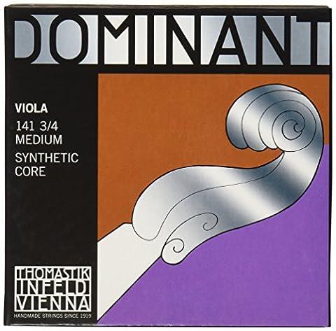 Thomastik-Infeld 141.34 Dominant Viola Strings, Complete Set, Medium Tension, 3/4 Size, 14
