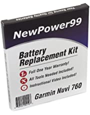 NewPower99 Battery Replacement Kit with Battery, Instructional Video and Tools Compatible with Garmin Nuvi 760