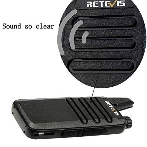 Retevis RT22 Two Way Radios Rechargeable Walkie Talkies 16 CH VOX Channel Lock Emergency Alarm 2 Way Radio(10 Pack) by Retevis (Image #7)