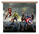 AG DESIGN Marvel Avengers Team Curtains, Multi-Colour, 180 x 160/90 x 160 cm