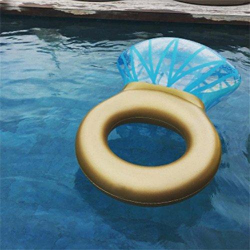 Inflable Gigante de Flotador, Balsa flotante de la piscina del anillo de diamante Anillo de natación inflable Circle Swim Tube Lounge Juguete de playa ...