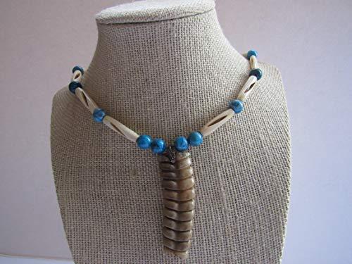 Rattlesnake Rattler Tail Snake Pendant Necklace Tribal Bone Jewelry Boho Spirit Animal N531