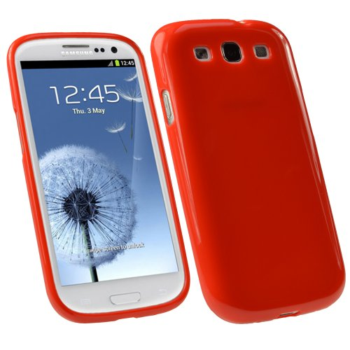 Durable Crystal Gel Skin (TPU) Case Cover for Samsung Galaxy S3 III i9300 Android Smartphone Cell Phone + Screen Protector ()